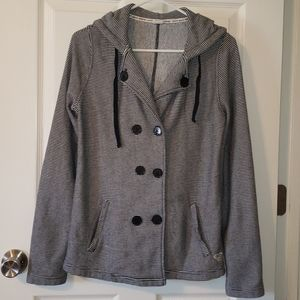 Roxy Peacoat Button up hooded Jacket